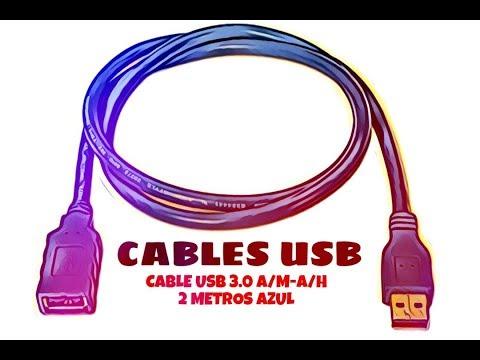Video de Cable USB 3.0 A/M-A/H 2 M Azul