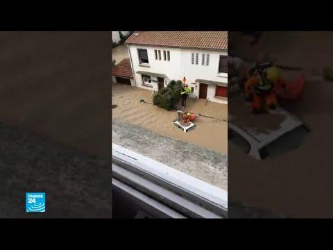 السكان يتفقدون خسائرهم بعد انحسار مياه الفيضانات في جنوب فرنسا  - نشر قبل 3 ساعة