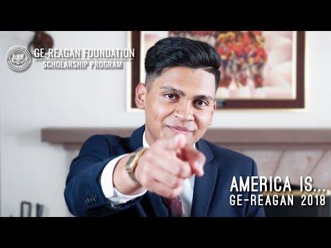 """America Is..."" — 2018 GE-Reagan Foundation Scholarship"
