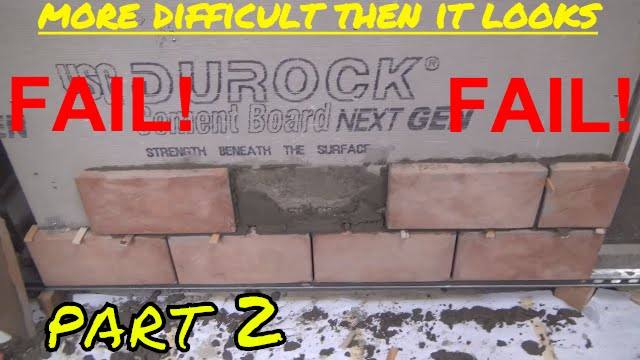 Fail How I Failed At Installing Stone Veneer Ep 2 Youtube