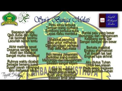 Teks Syiir Bunga Melati - Ahbaabul Musthofa + MP3