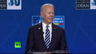 US President Joe Biden holds press conference at NATO leaders' summit