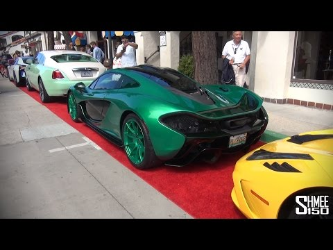 Crazy Green Mclaren P1 With 458 Speciale Wraith And Bmw I8