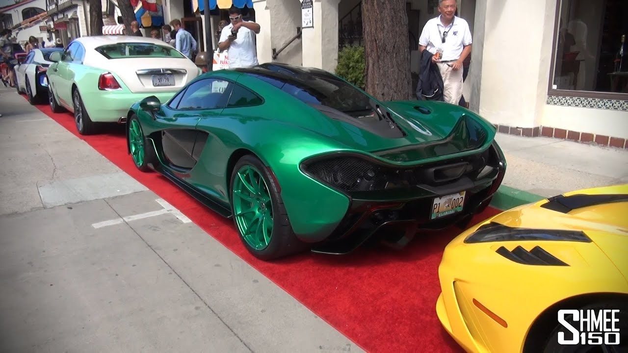 crazy green mclaren p1 with 458 speciale wraith and bmw