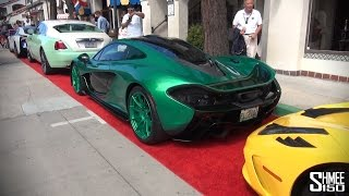 Crazy Green McLaren P1 with 458 Speciale, Wraith and BMW i8