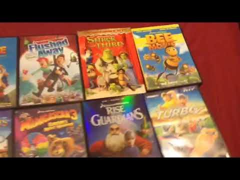 DREAMWORKS ANIMATED DVD Lot of 22, Shrek, Kung Fu Panda ...  |Dreamworks Disney Dvd Collection