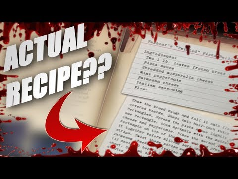 AN ACTUAL RECIPE TO FAZBEAR'S PIZZA ? ? ? || FNAF : The Freddy Files { Ch. 1 & 2 }