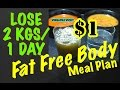 Fat Free Body Meal Plan | $1 Meal Plan | Lose 2 Kgs in 1 Day | Indian Meal Plan | PCOS