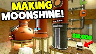 MAKING MOONSHINE EASY MONEY! - Gmod DarkRP (You CAN MAKE A Lot OF Money From MOONSHINE!)