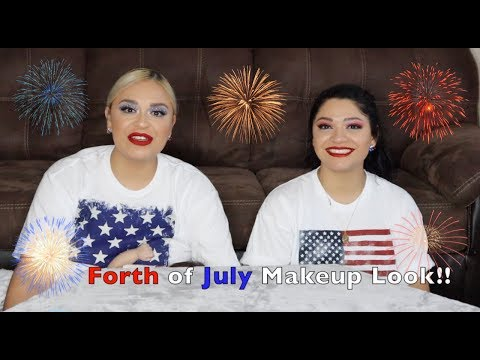 Simple 4th of July Makeup Looks🇺🇸🇺🇸🇺🇸 thumbnail