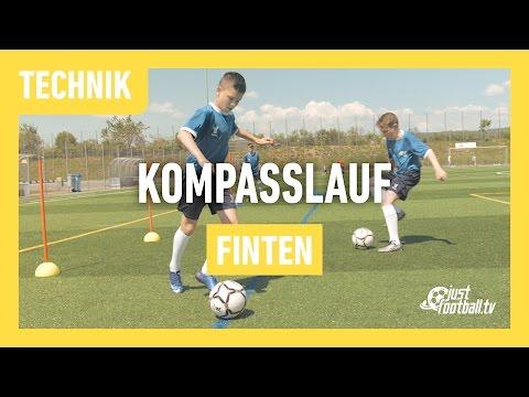 Fussballtraining Kompasslauf Finten Technik Youtube