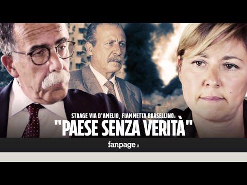 """Strage via D'Amelio, Fiammetta Borsellino: """"25 anni di buchi neri. Un Paese senza verità"""""""