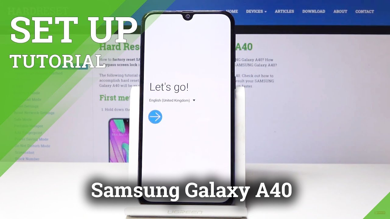 How to Set Up the Samsung Galaxy A40 - Device Activation / Initialization