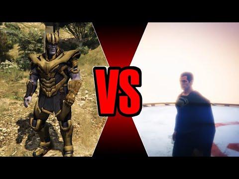 Superman vs Thanos - Epic Battle (GTA 5)