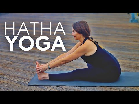 1 Hour Hatha Yoga (Full Body Stretch Class) | Fightmaster Yoga Videos
