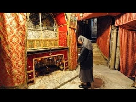 Visiting Jesus' birthplace. Church of the Nativity, Bethlehem. Tour Guide: Adel Dweib