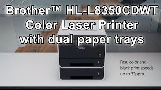 Color Laser Printer with Dual Paper Trays | Brother™ HL-L8350CDWT