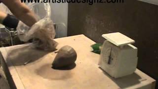 Betty Grandy Pottery Wedging Clay Demo -- www.artisticdesignz.com