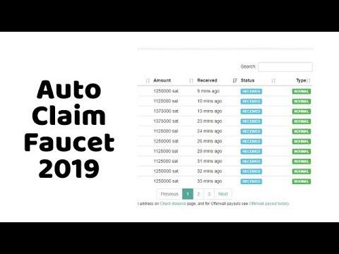 Auto Claim Faucet 2019 - YouTube