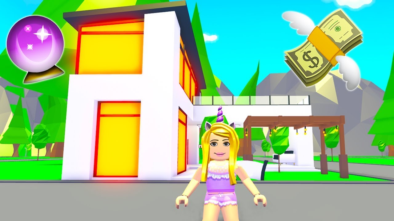 I Bought A Futuristic Mansion In Adopt Me Roblox Youtube