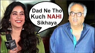 Jhanvi Kapoor's FUNNY Reaction On Dad Boney Kapoor At Dhadak Movie Trailer Launch