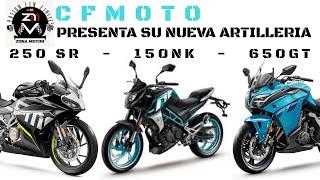 Gambar cover NUEVOS LANZAMIENTOS CFMOTO 250SR 150NK 250NK 650GT 2020 ¡APUESTA A LO GRANDE! #ZONAMOTOS