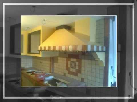 cucina in muratura fai da te homemade kitchen - YouTube
