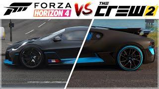 Forza Horizon 4 vs The Crew 2 |Bugatti Divo Engine Sound, Gameplay & Graphics Comparison