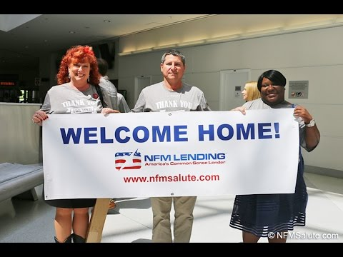 NFM Lending Welcomes Home Our Troops - August 30, 2016 - BWI Airport
