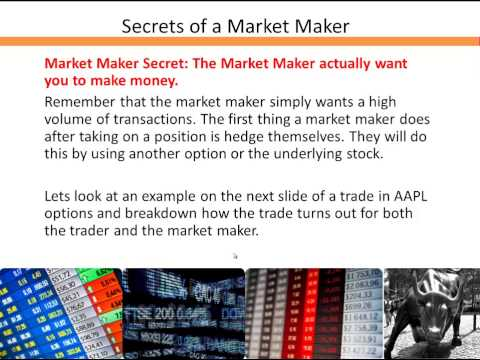 Secrets of a Market Maker No One Else Will Share 3.12.2014