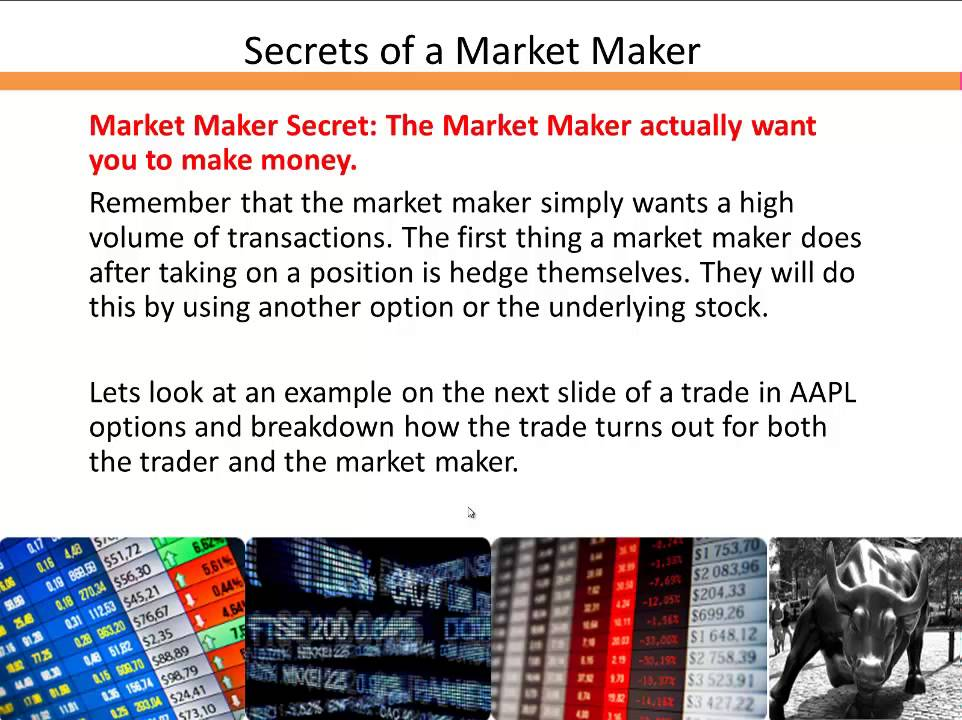 Secrets of a market maker no one else will share for Be a maker