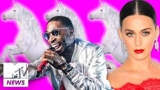 Katy Perry Shades Taylor Swift And You Can Now Ride A Real Life Unicorn To Work | MTV News