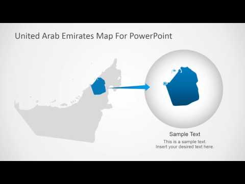 Editable Map of United Arab Emirates for PowerPoint 16x9