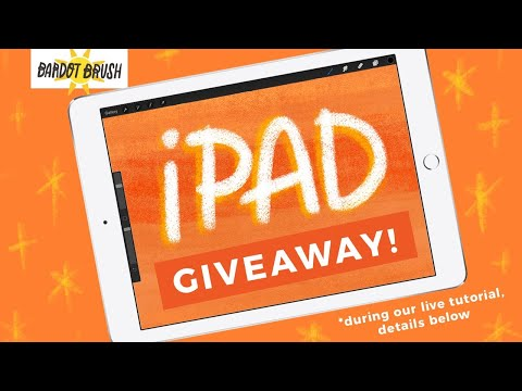Live Tutorial and iPad Giveaway!