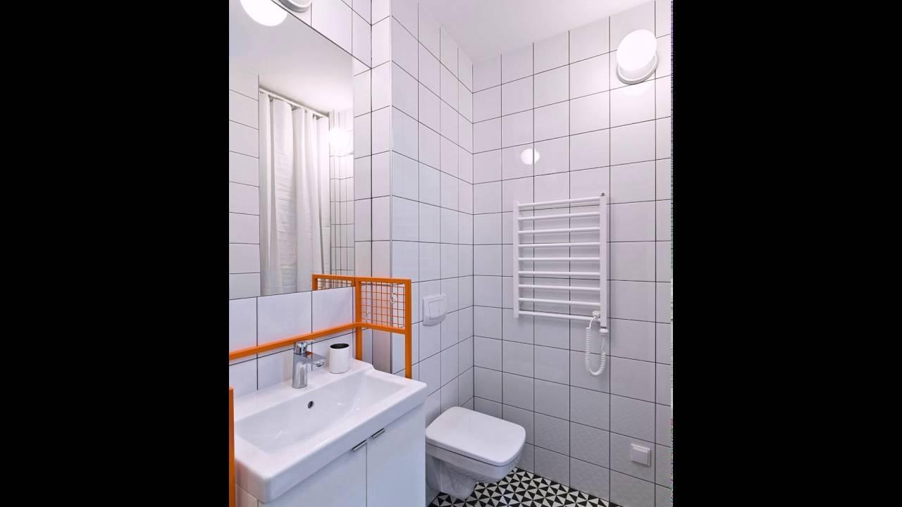 Schwarz Weiß Und Grau Form, Eine Stilvolle Kleine Badezimmer In Der Wohnung  Poznan