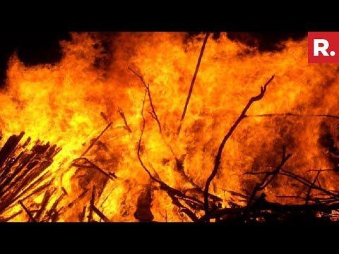 Massive Fire Guts Over 100 Shanties In Gurugram Slum