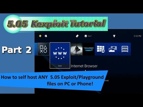 PS4 5.05 PT 2 - How to Self host any Exploits/Playgrounds you want, on your PC or Phone (Android)
