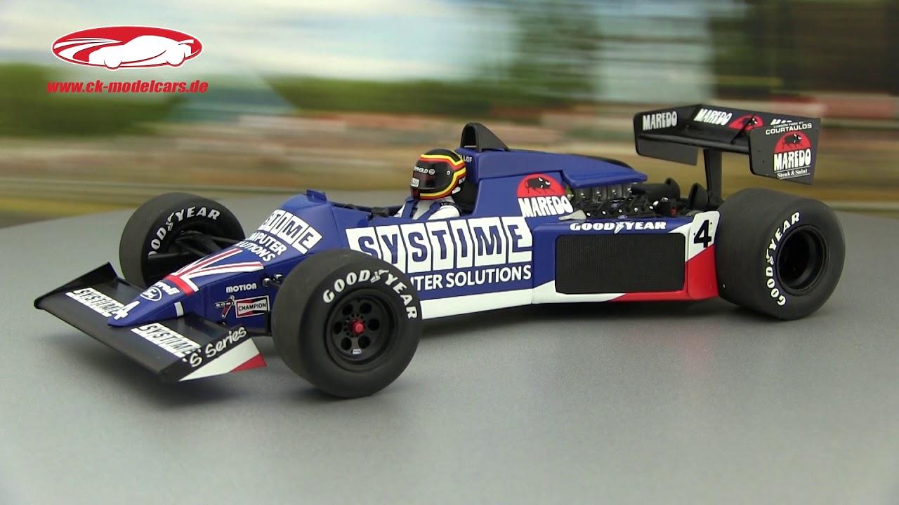 1:18 Minichamps tyrrell 012 gp Zandvoort Bellof 1984 con Cap