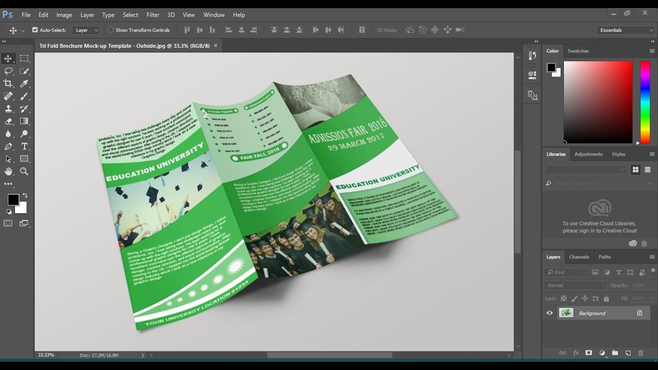 creating brochure using photoshop