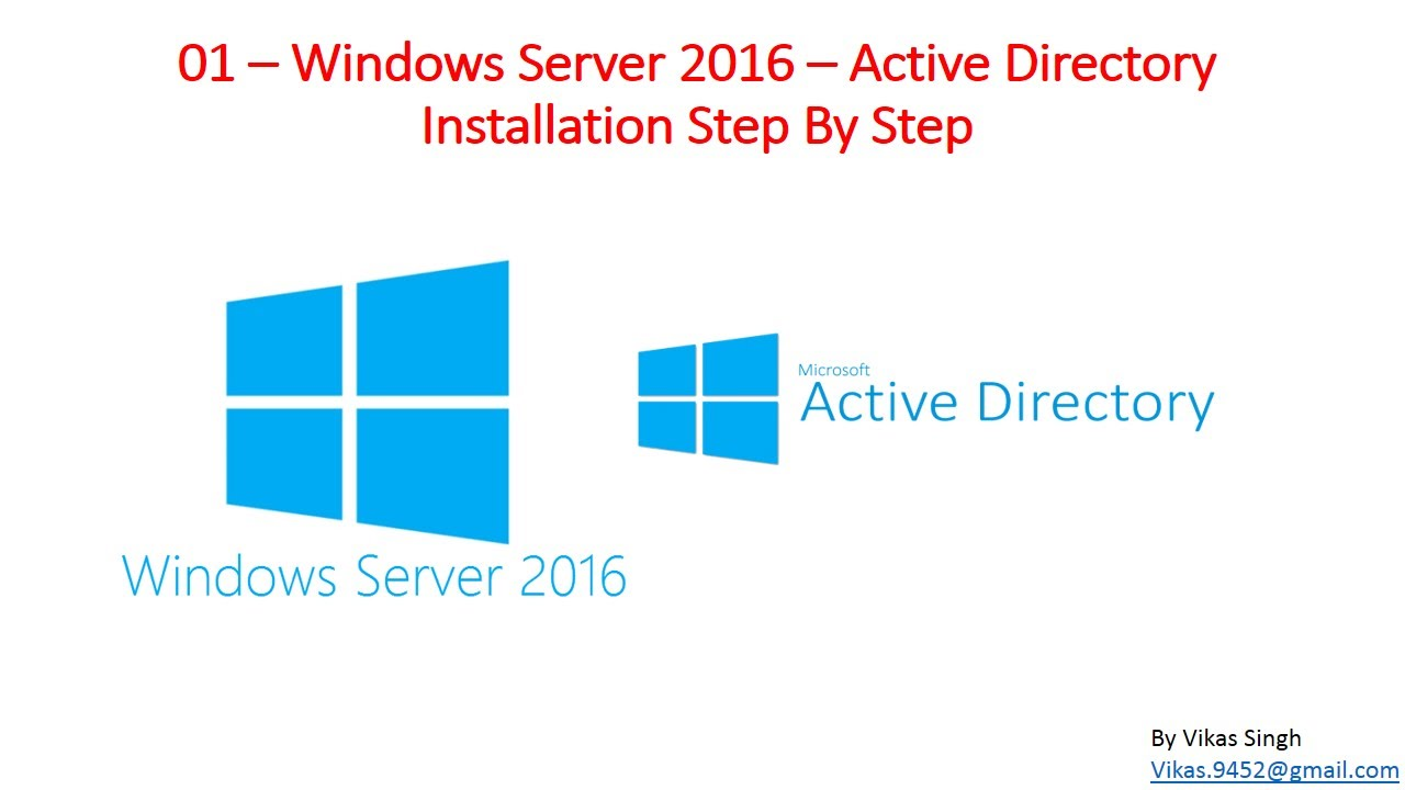 01 windows server 2016 active directory installation step by step youtube