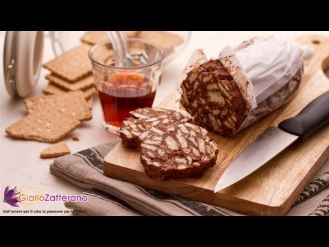Chocolate Salami Salame Al Cioccolato Italian Recipe