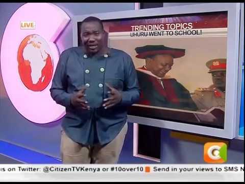 Kenyans pester a U.S college over Uhuru's degree.....Trending Topics #10Over10