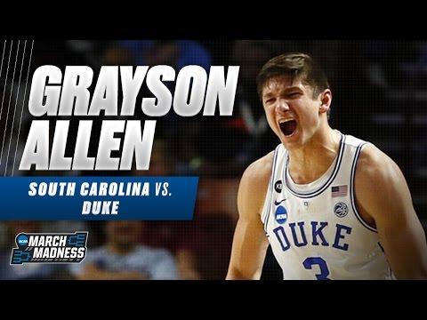 Grayson Allen leads Duke with 20, not enough vs. South Carolina