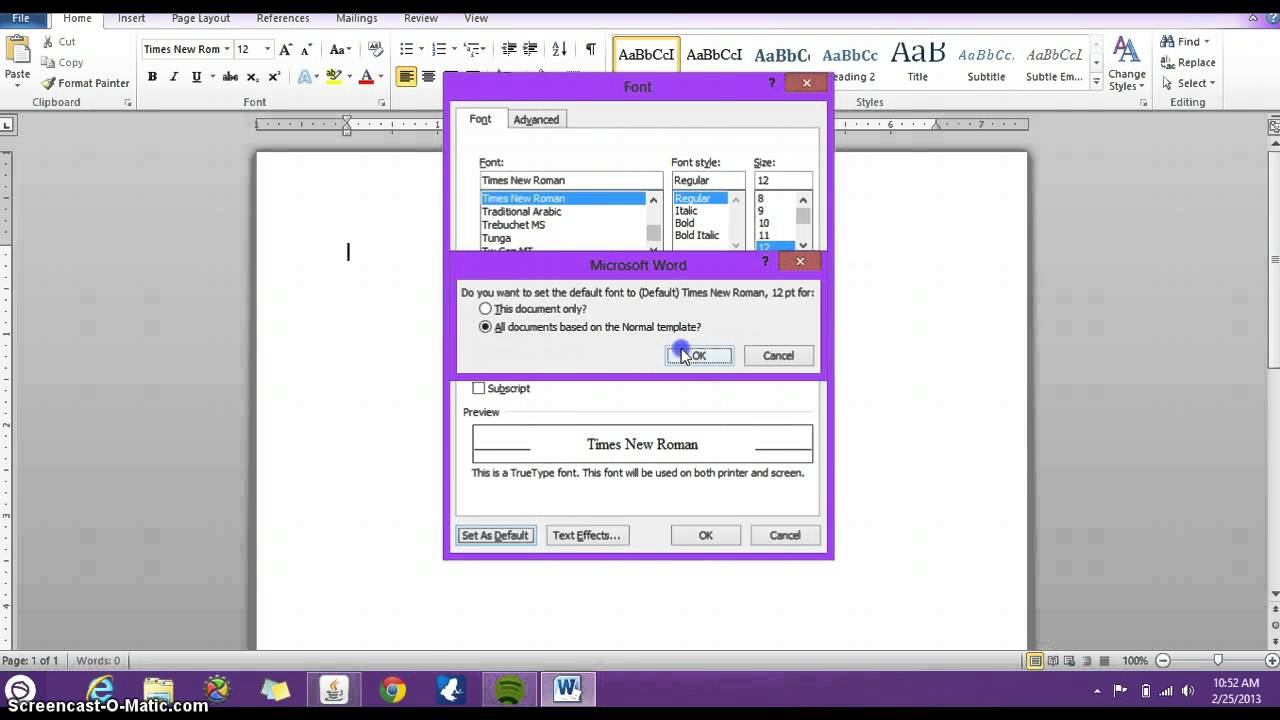 how to change the size of spacing in word