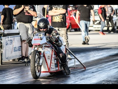 Worlds Fastest Electric Dragbike Silver Bullitt 4.82 @ 1/8-mile (no Music)