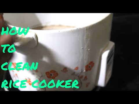 how to clean electric rice cooker easily in home/diy