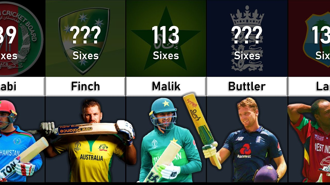 Most Sixes in ODI Cricket    Data Tuber
