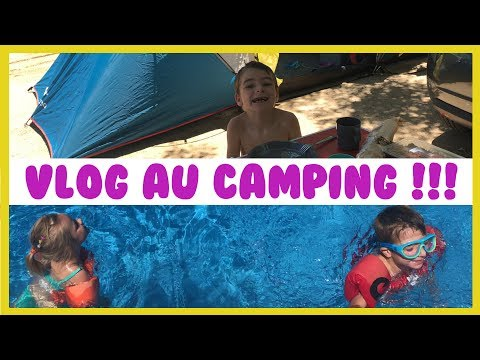 VLOG au VACANCES au camping !!! - KID STUDIO TEST