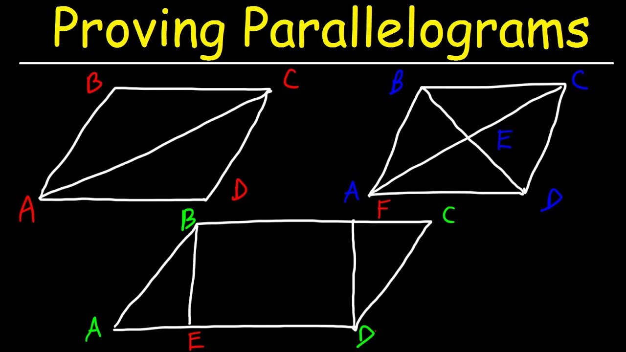 Download Proving Parallelograms With Two Column Proofs - Geometry