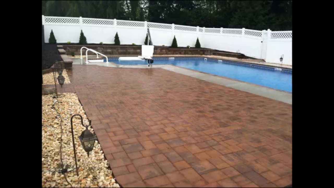 Retaining Wall & Paver Patio Installation around Pool in